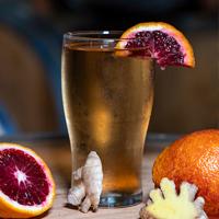 Blood Orange Ginger Cider